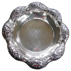 """REED & BARTON Sterling Silver Repousse Centerpiece Bowl 11-1/16"""", 412 Grams"""