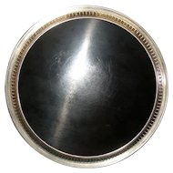 """WALLACE 12"""" Sterling Silver Modernique Formica Plastic/Bakelite Serving Tray Plate Platter Charger Dish"""