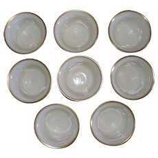 Lenox Bouillon Porcelain China Cup Inserts GREEN MARK 8 (eight) total
