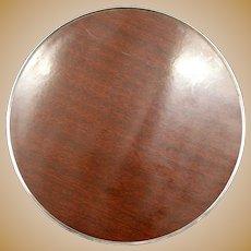 ALVIN Sterling Silver Woodgrain Laminate Trivet Tray Dish S246