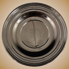 """Reed & Barton Sterling Silver Plate Small Tray 9-1/2"""" X648"""