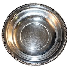 """Quaker Sterling Silver Bowl Gadroon Edge, ~8-3/4"""" x ~2"""", Nice Weight"""