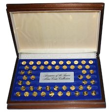 Franklin Mint 24k Solid Gold Treasures of Louvre Mini Coins, 85.6g AGW!
