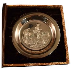 Franklin Mint Sterling Silver Plate Mountain Man Gordon Phillips Complete