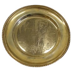 Veneto Flair Sterling Silver 1973 Valentine's Day Collector Plate Romeo and Juliet Shakespeare