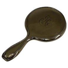 """Gorham Antique Sterling Silver Vanity Hand Mirror, c1897, 9-1/2"""""""