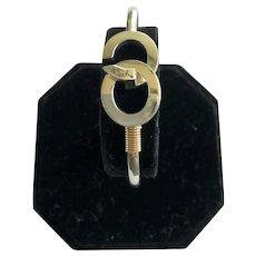 Sterling Silver and 14kt Bracelet