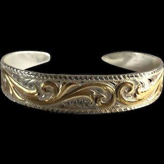 Silver Plate Montana Silversmith's Cuff Bracelet