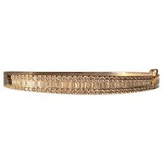14K Stunning Diamond Bangle Bracelet