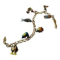 14kt Yellow Gold Charm Bracelet