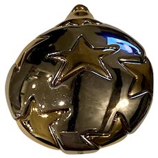 Silver-toned Holiday Ornament Pin