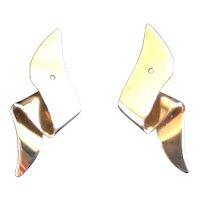 14kt Ribbon Earring Jackets