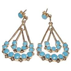 925 Native American Sleeping Beauty Turquoise Earrings