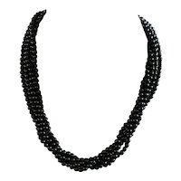 Gorgeous Onyx and Sterling Silver Choker Necklace