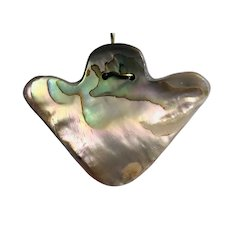 Native American Abalone Sterling Silver Necklace