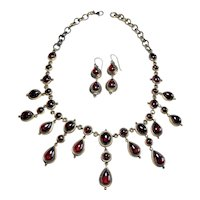 Vintage Victorian Style Costume Necklace and Earring Set