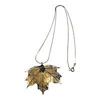 Natural Maple Leaf Pendant Necklace