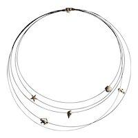 Unique 14kt Sea-life Cord Choker Necklace