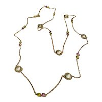 Sterling Silver Gems By The Yard Necklace