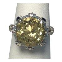 925 Sterling Silver Semiprecious Stone Ring