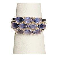 925 Sterling Silver Lab Tanzanite Ring
