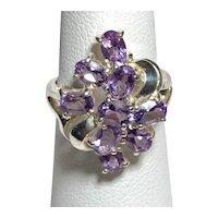 925 Sterling Silver Amethyst Ring