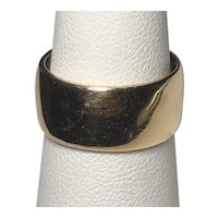 14K Yellow Gold Wide Cigar Band