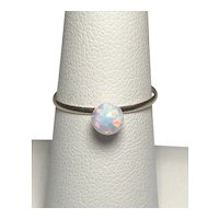 14kt Yellow Gold White Opal Ring