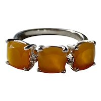Sterling Silver Mexican Fire Opal Ring
