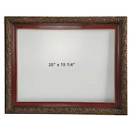 Victorian Carved Wood Vintage Frame, 20x16 French Ornate Picture Frame for Oil Painting