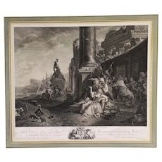 The Party Of Pleasure, 18th Century French Etching Landscape Print from British Museum