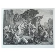 18th Century - Roman Mythology Engraving, after Renaissance Style French Painting by Jean Restout