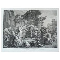 Scipion Roman Mythology 18th Century Engraving, after Renaissance Style Painting by J. Restout