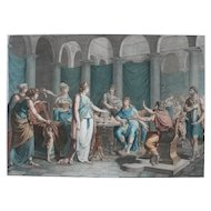 Homer's Odyssey Greek Mythology 18th Century Etching Print