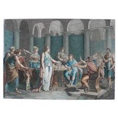 Homer's Odyssey Greek Mythology 18th Century Etching Print