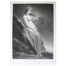 18th Century Etching from the Met Museum of a nude Woman, after painting by Fragonard
