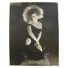 Original Vintage Photograph of Hollywood Movie Star Clara Bow, 1920s