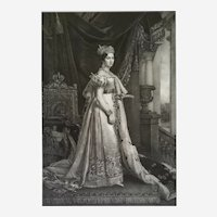 Female Portrait Of Queen Therese Koniginn Von Bayern, 19th Lithograph