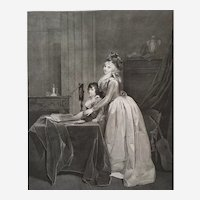 Optic engraving after Boilly 19th c