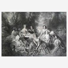 Her Majesty The Empress Eugenie after Winterhalter lithograph After Winterhalter