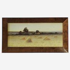 British Landscape by George Oyston original watercolor