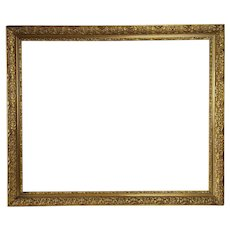 Gilted frame for Painting, 19th century Carved Wood French Antiques