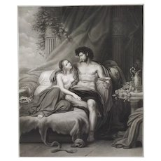 Samson And Dalila Engraving By Jazet After Steuben 1845 Goupil Publishers