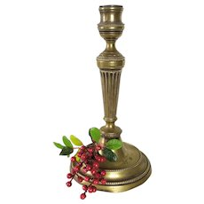 Candlestick bronze 19th C. antique home decor tablewar