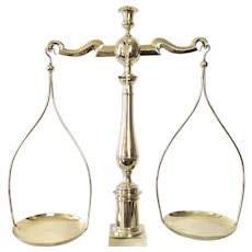 Empire style Scales of Justice in brass and bronze 19th century French Antique Balance