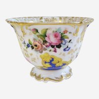 Antique Porcelain Cup with Handpainted Floral Decor 19th century