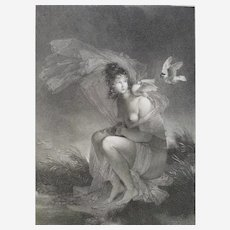 Neoclassical Engraving By Them The Love Enlightens Her After Fragonard