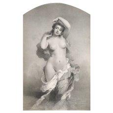 Mythological Lithograph  Aurora After Chaplin 19th c