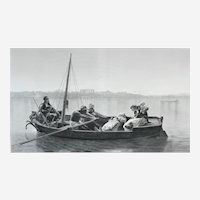 Orientalist Etching After French Oil Painting By Jean-léon Gerome