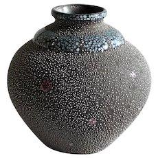 Handcraft ceramic Flower vase artistic pottery 20th c